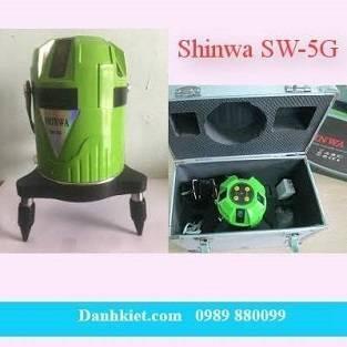 Máy thủy bình laser Shinwa SW-5G (5 tia xanh)